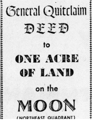 چاند پر ملکیت