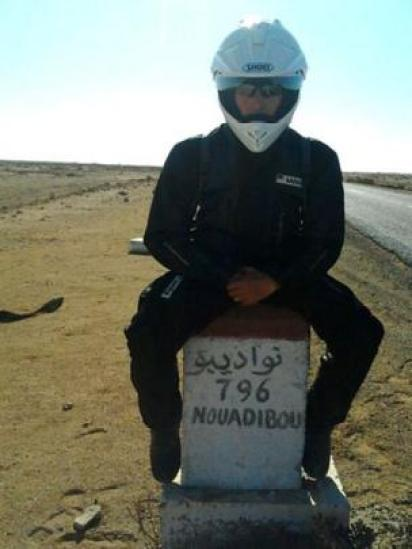 Stephen McGown, durante su viaje en moto (Foto: Stephen McGown)