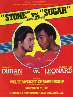 Afiche de la segunda pelea de Roberto Durán contra Sugar Ray Leonard
