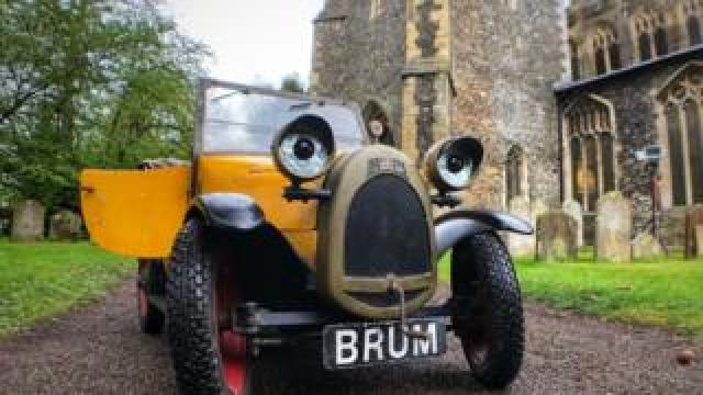 Brum at the church