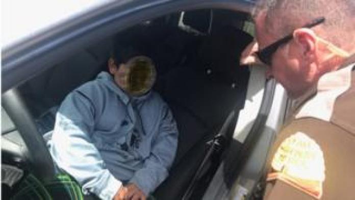 Utah Patrol Officer Addressing Young Boy Driving SUV