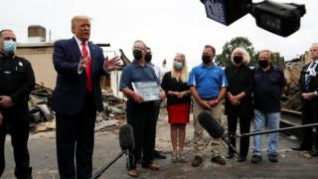 President Trump in Kenosha, Wisconsin