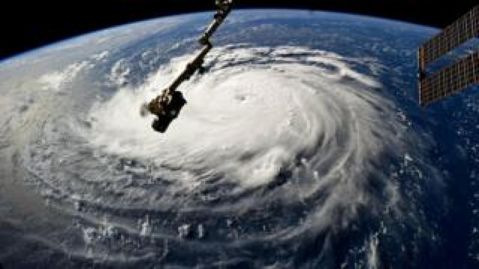 NEWS Hurricane Florence gains strength in the Atlantic Ocean as it moves west, seen from the International Space Station on September 10, 2018