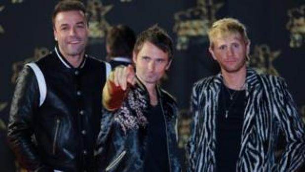 Muse (L-R): bassist Christopher Wolstenholme, singer Matthew Bellamy and drummer Dominic Howard