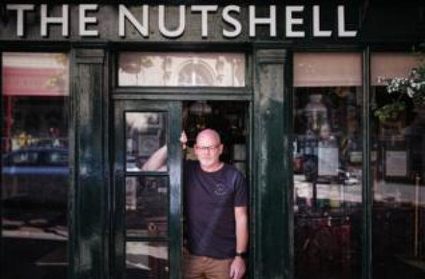 Geoff Page, one of the licensees at The Nutshell