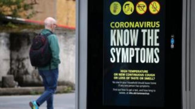 Coronavirus poster in Glasgow