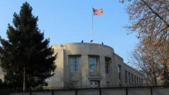 A picture taken in December 2016 shows the US embassy in Ankara