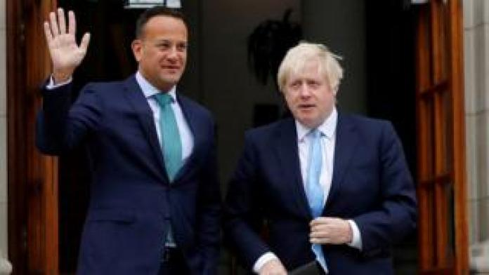 Leo Varadkar and Boris Johnson