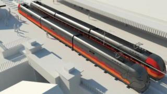 An image from the 3D animation of the South Wales Metro