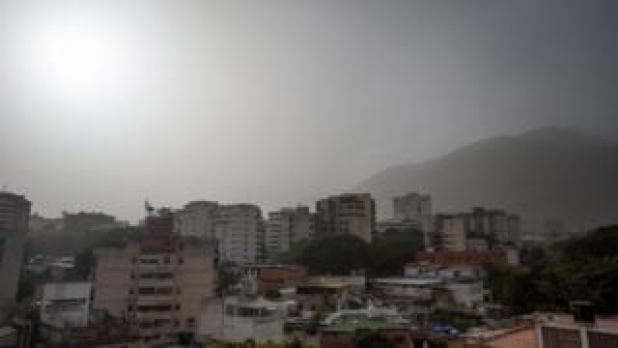 Dust particles are observed in Caracas, Venezuela, on June 21, 2020.