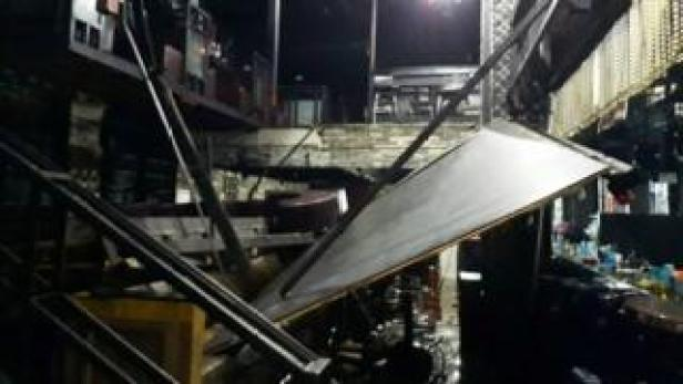 Collapsed balcony at Coyote Ugly nightclub, Gwangju, South Korea 27 July 2019