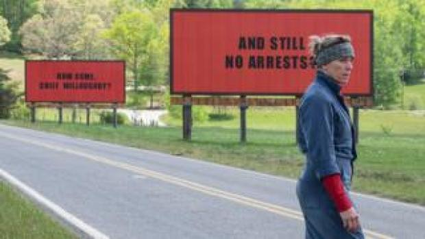 Scene of Three Billboards Outside Ebbing, Missouri