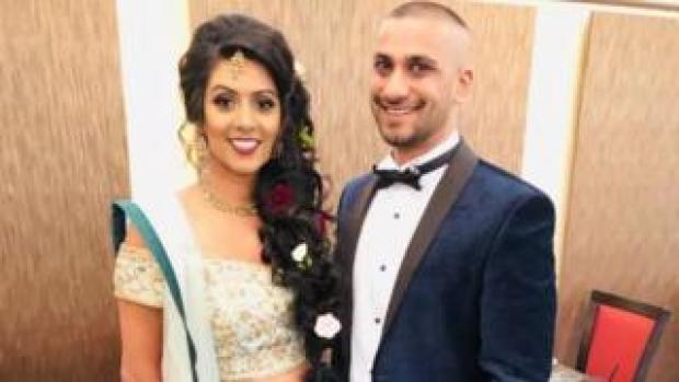 Khilan Chandaria, 33, and bride Usheila Patel