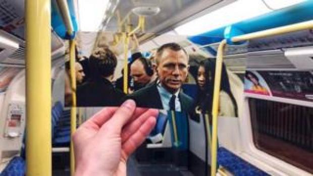 Skyfall scene recreated on the London Underground