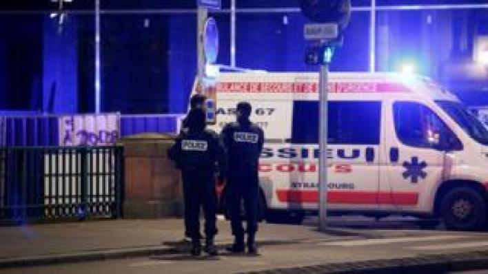 Police in Strasbourg. 11 Dec 2018