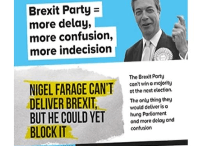 'Brexit Party = more delay, more confusion, more indecision'