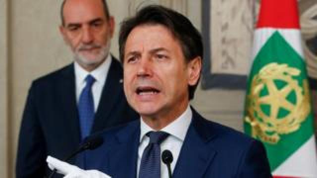 Giuseppe Conte, Italy's caretaker prime minister