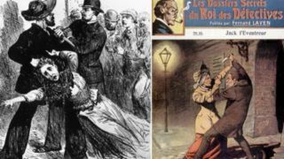 Illustrations from early 1900s about Jack the Ripper