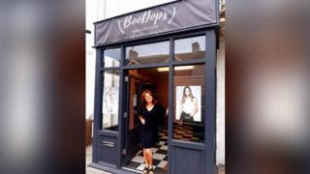 Anne Marie outside her new shop