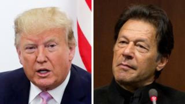 Donald Trump (left) and Imran Khan (composite image)