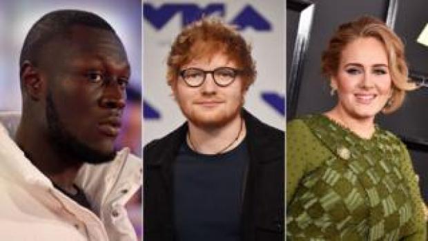 Stormzy, Ed Sheeran and Adele