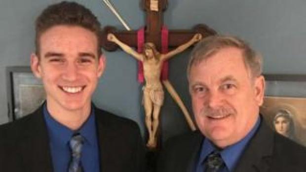 Jerome (L) and Bill Kunkel