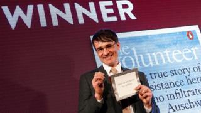 Jack Fairweather at the Costa Book of the Year Awards