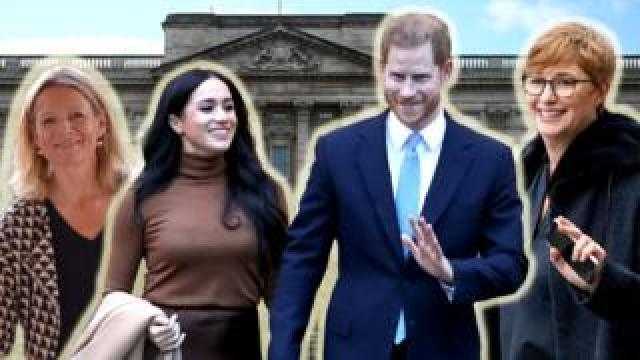 Meghan and Harry with advisers