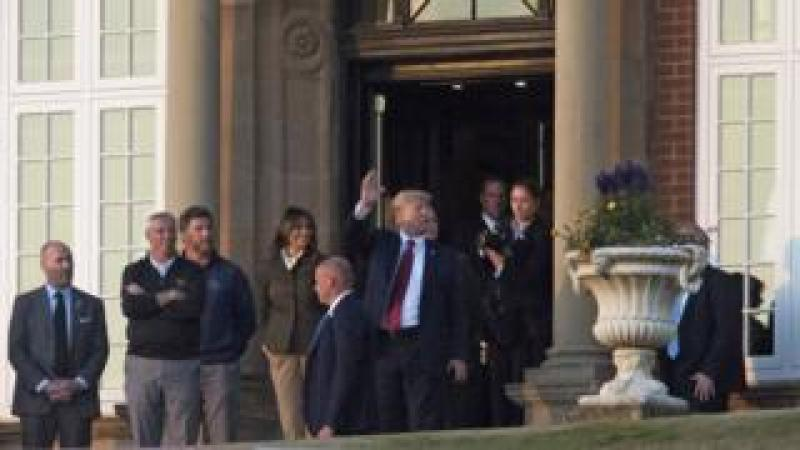 President Trump at Turnberry