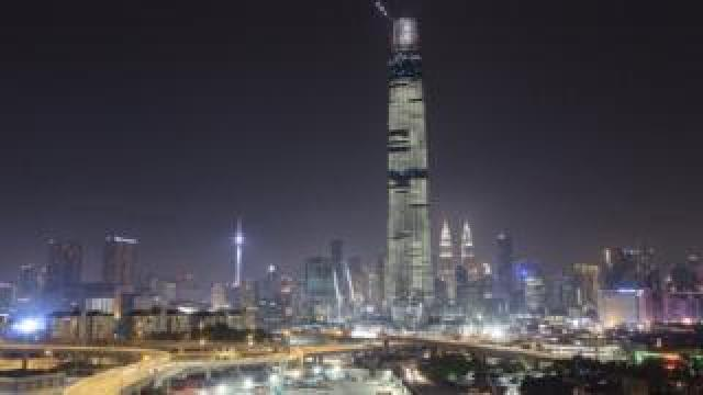 Kuala Lumpur city skyline with the Tun Razak Exchange Tower in view in 2018