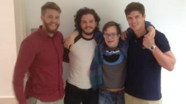 Kit Harington with his cousins