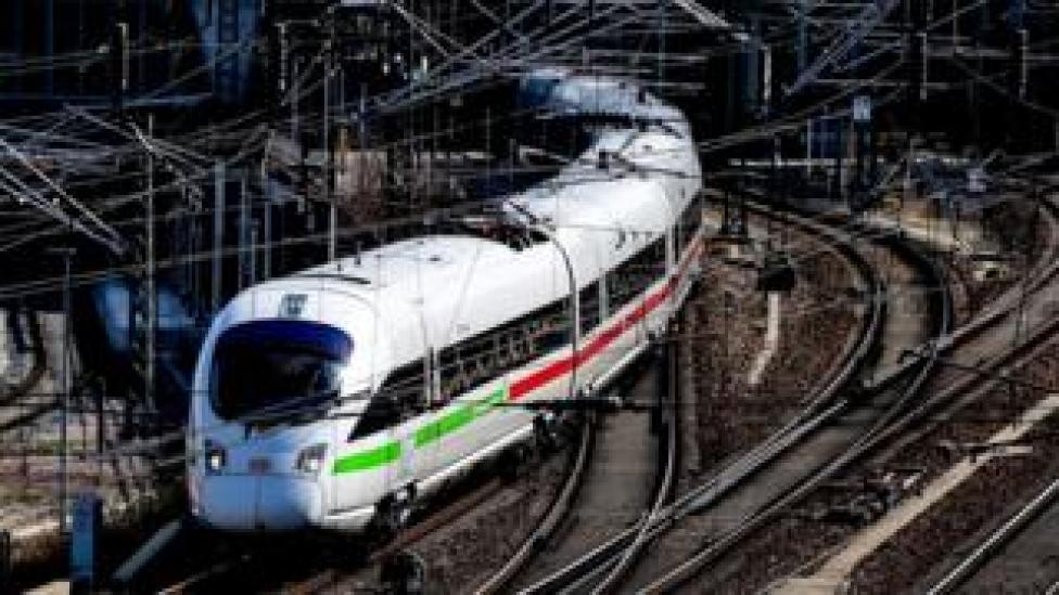 A German high-speed train