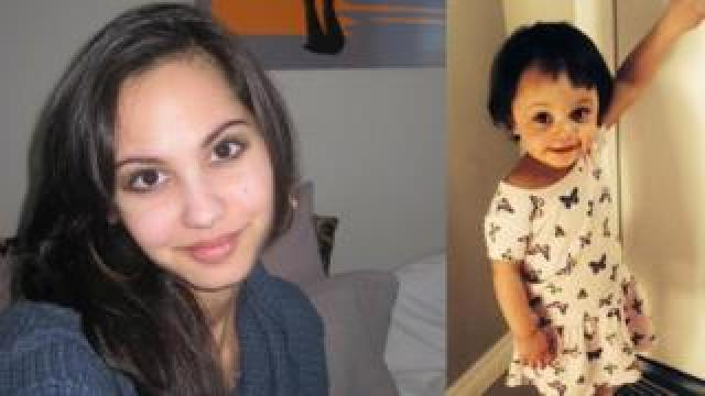 Jasmine Lovett, 25, and her daughter Aliyah Sanderson, aged one, are pictured
