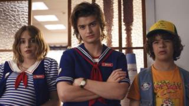 Maya Hawke, Joe Keery and Gaten Matarazzo