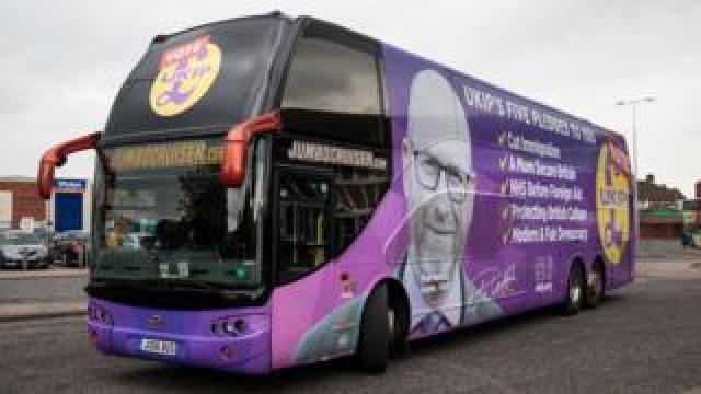 UKIP battle bus.