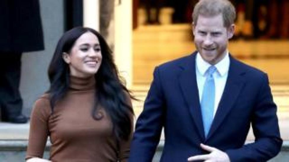 Prince Harry, Duke of Sussex and Meghan, Duchess of Sussex depart Canada House