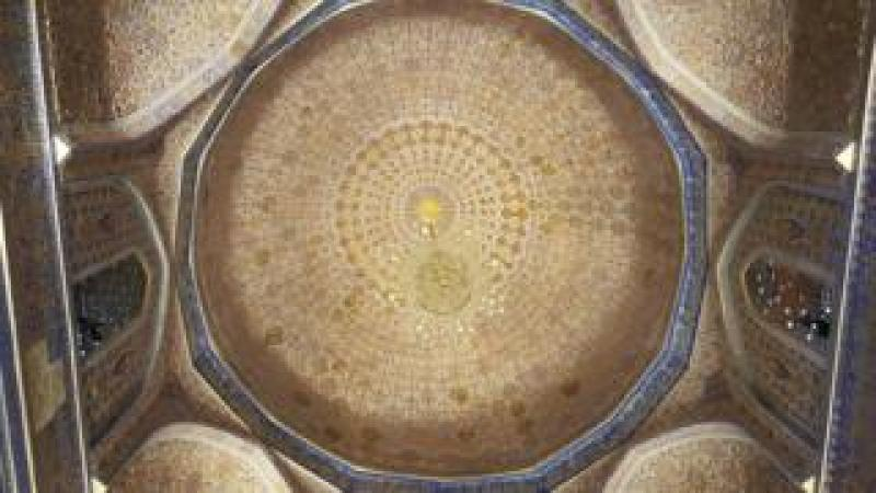 The magnificent ceiling in Tamerlane's tomb, Gur Emir