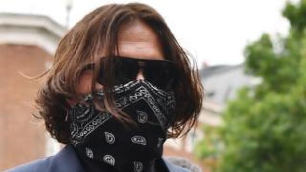 Johnny Depp arrives at court on Thursday
