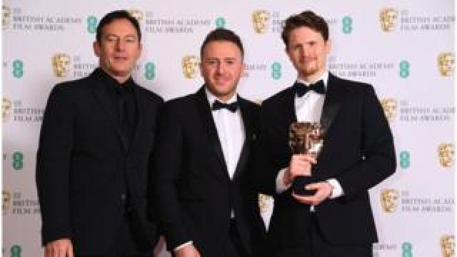 Jason Isaacs with Oliver Walton and Alex Lockwood