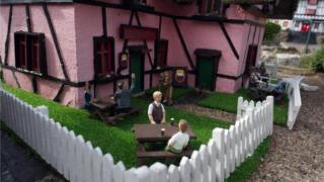 Bekonscot pub beer garden