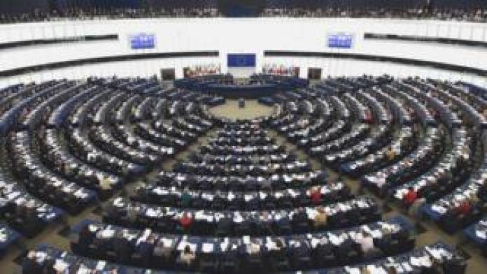Inside the European Parliament in Strasburg