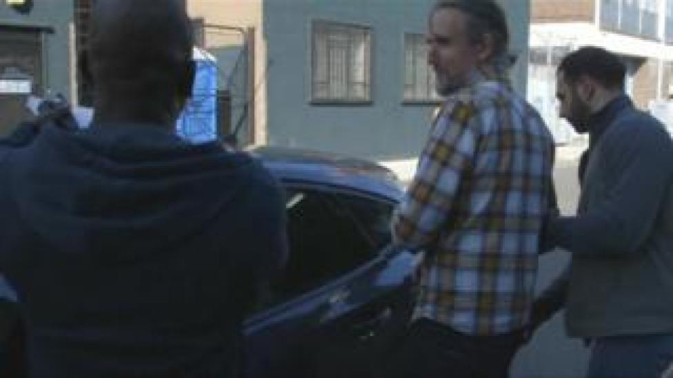 Campaigner being arrested