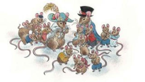 An illustration by Emily Sutton from The Ups and Downs of the Castle Mice
