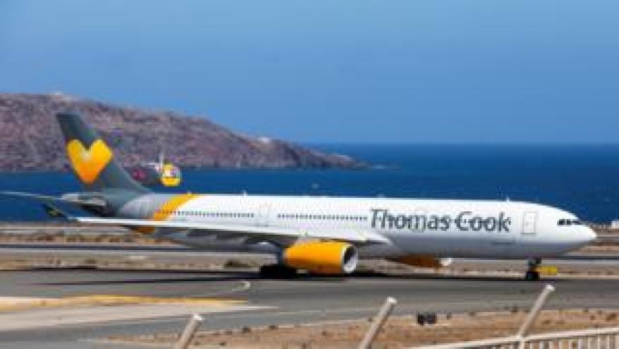 Самолет Thomas Cook Scandinavia Airbus A330 в Лас-Пальмас на Канарских островах, Испания, 25 сентября 2019 года