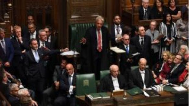 John Bercow and other MPs in the House of Commons
