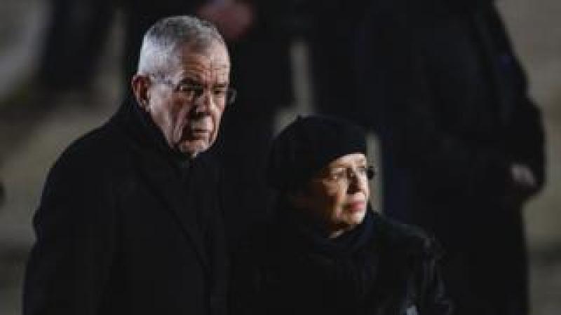 Austria's President Alexander Van der Bellen and his wife