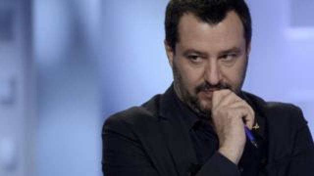 Salvini looking curious