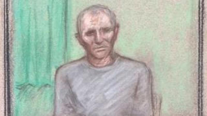 Barry Bennell court sketch