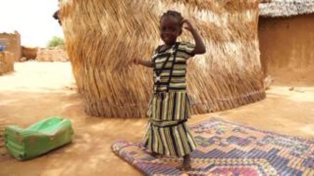 Little girl, Marieta, in rural Burkina Faso