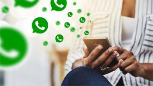 WhatsApp messages on a phone